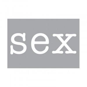 Decoratiune luminoasa alba din sticla Neon Art Sex Seletti
