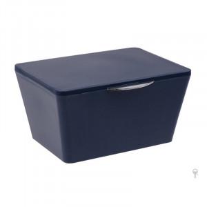 Cutie albastru inchis din elastomer termoplastic cu capac Nalini Wenko