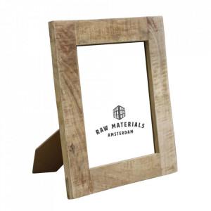 Rama foto dreptunghiulara maro din lemn de mango 20x25 cm Vintage Raw Materials