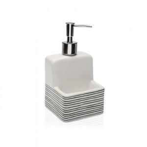 Dispenser sapun lichid alb/negru din ceramica 11,2x19 cm Snoop Line Versa Home