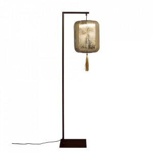 Lampadar auriu/negru din fier si textil 157 cm Suoni Dutchbone