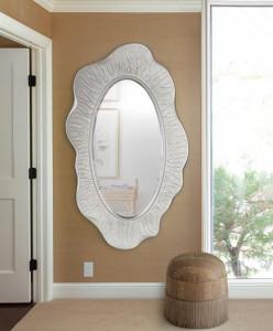 Oglinda ovala din polirasina si sticla 87x150 cm Nature Giner y Colomer