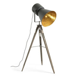 Lampadar negru din metal 170 cm Kapeli La Forma