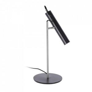 Lampa birou neagra din metal 47 cm Maude La Forma