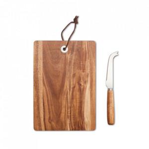 Set tocator si cutit din lemn pentru servire branza Cheeese Zeller
