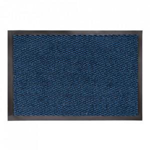 Pres dreptunghiular albastru din polipropilena pentru intrare 90x150 cm Luzern Lako