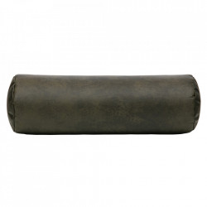 Perna decorativa rotunda verde army din poliester si nailon 20x61 cm Spool Be Pure Home