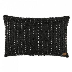 Perna decorativa dreptunghiulara gri din textil 40x60 cm Hug Be Pure Home