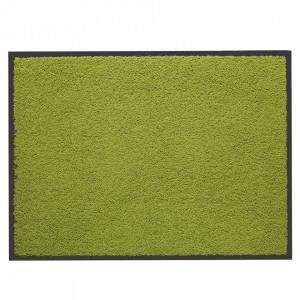 Pres dreptunghiular verde din poliamida pentru intrare 60x80 cm Washtex Lako