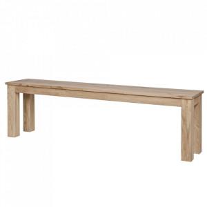 Bancheta maro din lemn de stejar 157 cm Oslo Woood