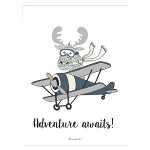 Poster multicolor din hartie 30x40 cm Adventure Bloomingville