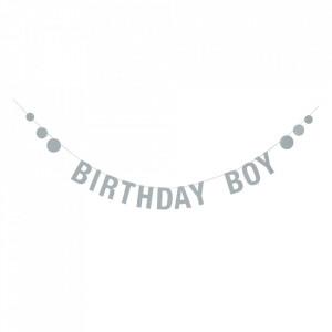 Ghirlanda decorativa albastra din hartie Birthday Boy Bloomingville