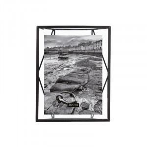 Rama foto neagra/transparenta din metal si sticla pentru perete 18x23 cm Nuri LifeStyle Home Collection