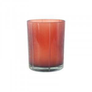 Suport rosu din sticla pentru lumanare 13 cm Lark Lifestyle Home Collection
