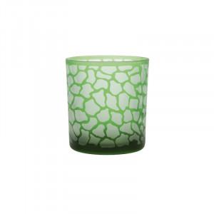 Suport verde din sticla pentru lumanare 8 cm Jafari Lifestyle Home Collection