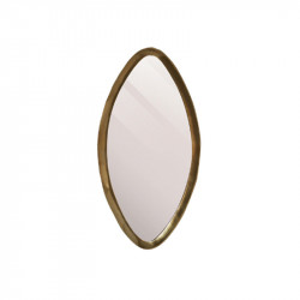 Oglinda ovala aurie din aluminiu 40x76 cm Reno Lifestyle Home Collection