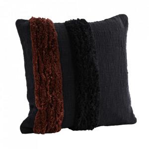 Fata de perna neagra/maro din bumbac 50x50 cm Namira Madam Stoltz
