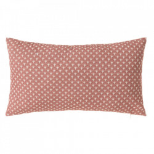 Perna decorativa dreptunghiulara roz din poliester si bumbac 30x50 cm Luz Luna Unimasa