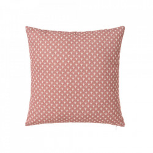 Perna decorativa patrata roz din poliester si bumbac 40x40 cm Luz Luna Unimasa
