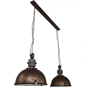Lustra maro din metal si sticla cu 2 becuri Bikkel Steinhauer