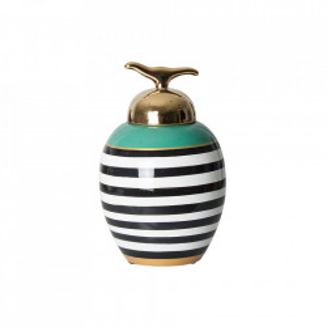 Recipient cu capac multicolor din ceramica 19x27 cm Sasha Vical Home