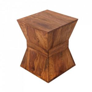 Masuta maro din lemn de palisandru indian 35x35 cm Pyramid Invicta Interior