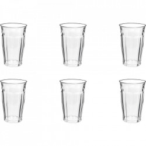 Set 6 pahare transparente din sticla 360 ml Picardie Duralex