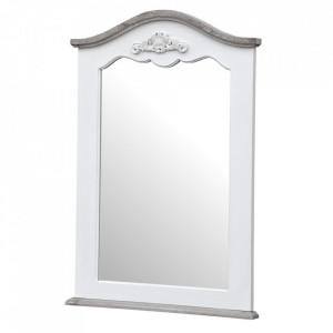 Oglinda alba din lemn de plop si MDF 60x85 cm Rimini Livin Hill
