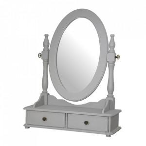 Oglinda cu sertare din lemn de plop si MDF 49x64 cm Catania Livin Hill