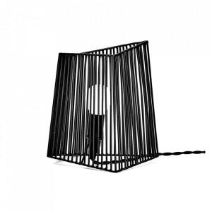 Veioza neagra din otel 20 cm Ombre Serax
