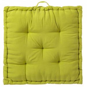 Perna patrata verde din poliester si bumbac pentru sezut 60x60 cm Loving Colours Unimasa