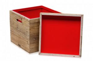 Cutie din lemn de pin Qbzz Versmissen