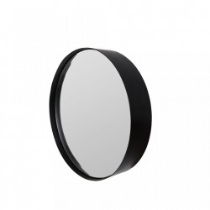 Oglinda rotunda neagra 60 cm Raj M White Label