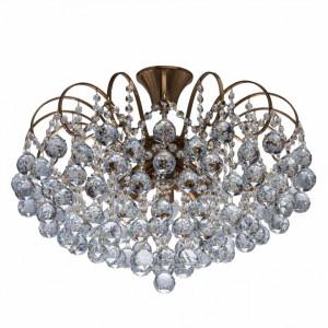 Lustra aurie din metal cu 8 becuri Crystal Brass Shine MW Glasberg