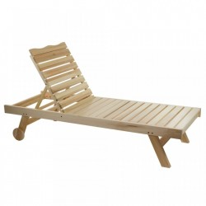 Sezlong ajustabil din lemn Deck Santiago Pons