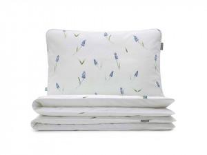Lenjerie de pat alba din bumbac Muscari Single Mumla (diverse dimensiuni)