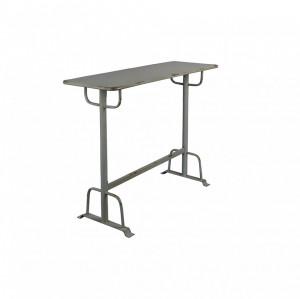 Masa de bar din metal gri 104 cm Declan Grey Dutchbone