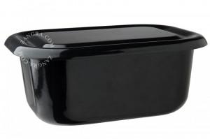 Vas de copt cu capac negru din email 18 cm Eve Black Zangra