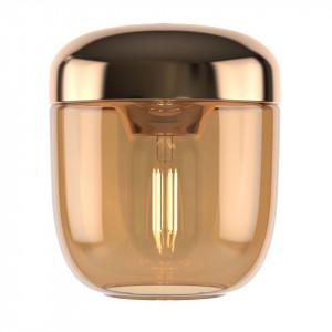 Abajur auriu din aluminiu si sticla Acorn Amber Brass Umage