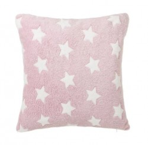 Perna decorativa patrata roz pentru copii din poliester 45x45 cm Star Unimasa