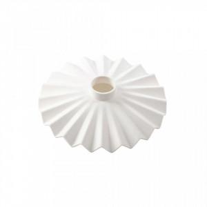 Abajur alb din silicon 20 cm Cappello White Seletti