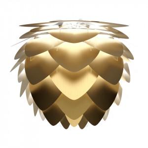 Abajur auriu din aluminiu si polipropilena Aluvia Mini Brass Umage