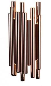 Aplica aramie din metal si plastic cu 8 LED-uri Organic Copper Wall Maxlight
