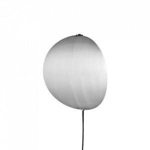 Aplica argintie din metal cu LED Callas Wall Medium Steel Bolia