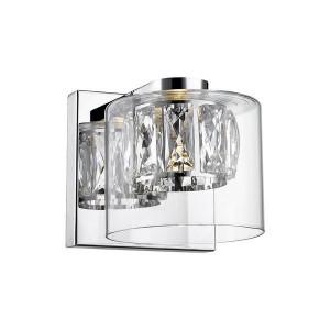 Aplica argintie din metal si sticla cu LED Game Zuma Line