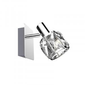 Aplica argintie/transparenta din metal si sticla Nyasa Zuma Line