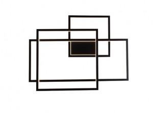 Aplica dimabila neagra din metal si plastic acrilic Geometric Wall Dimmable Maxlight