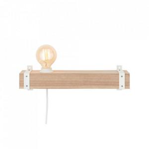 Aplica maro/alba din metal si lemn White Wood Brilliant