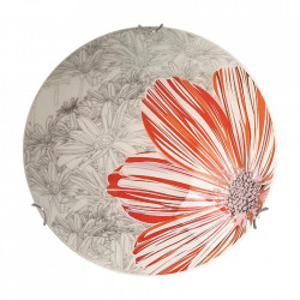 Aplica multicolora din sticla si otel cu 2 becuri Spring Round Large Candellux