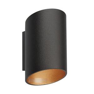 Aplica neagra/aurie din aluminiu Slice WL Zuma Line